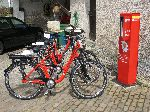 E-Bikes an der Ladestation